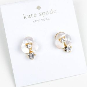 kate spade shell floral crystal earrings